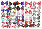 Wholesale Lot 36 Animal Pattern Print Satin Ribbon Bow Craft Hair Clip Accessory
