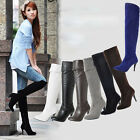 Stylish Devise! Ladies Sexy High quality Suede Over Knee High Heel Boots MOU