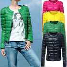 Fashion Womens Casual Winter Candy Color Slim Down Jacket Coat Overcoat Parka