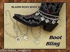 BOOT BLING!!  Rhinestone Cowgirl ~ CHAIN BRACELET ~ Crystal Cross, Star or Rowel
