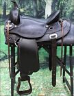 "DF200 HILASON WESTERN DRAFT HORSE TRAIL ENDURANCE RIDING SADDLE 15"" 16"" 17"""