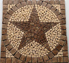 S Cafe au Lait Marble TEXAS STAR MOSAIC MEDALLION TILE FOYER BACKSPLASH FLOOR AR