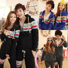 FASHION Men/Women's Lovers Plain Zip Up Fleece Hoodies SweatShirt+Pants 4Color