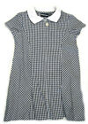 SALE Girls Banner navy and white gingham dress with hair bobble 3104-AVON
