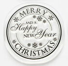 LOTV Lili of the Valley Clear Circular Christmas Xmas Sentiment Stamps VARIOUS