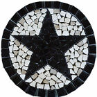 R Absolute Black Granite Texas Star Mosaic Medallion Marble Backsplash Floor BAT