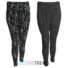 Womens Jersey Printed Tapered Trousers Ladies Loose Fitted Leggings Pants