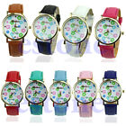 Exquisite Geneva Leatheroid Womens Lovely Flower Dial Watch Quartz Watches