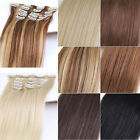 16-24'' Clip In Human Hair Extensions Natural Real Human Hair Extension Straight