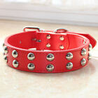 Spiked Studded Medium Large Breed Pitbull Terrier Faux Leather Dog Collar S M