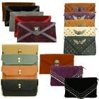 LADIES SKULL ENVELOPE CLUTCH EVENING PURSE CHAIN SHOULDER STRAP PARTY HAND-BAG