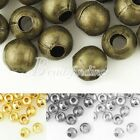 20g Approx 150/60pcs 4/6mm Round Spacer Crimps End Beads DIY Jewellery Findings