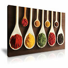 INDIAN SPICE POWDER Canvas Framed Print Restaurant Deco - More Size