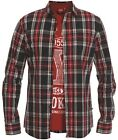 MENS SHIRT AND TSHIRT SET RIGA LONG SLEEVE IN NAVY-RED COLOUR 3XLTO 6XL