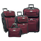 Travel Select Red Amsterdam 4-Piece Expandable Rolling Luggage Suitcase Tote Set