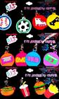 Expressions DIY 4 Piece Accessory Charms Rainbow Loom Bracelets Etc. (12 Styles)