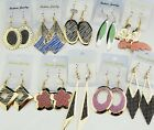 10-20Pairs Mix Gold Silver Frosted Fashion Women Drop Earrings Wholesale Lots
