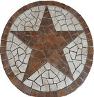 R Santa Cruz Texas Star Mosaic Tile Medallion Marble Backsplash Deco Floor Desig