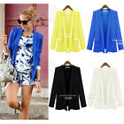 Fashion Womens Ladies Long Sleeve Open Front Casual Work Thin Suit Blazer New