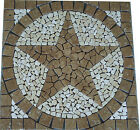 Noce Marble TEXAS STAR MOSAIC MEDALLION TILE DECO FOYER BACKSPLASH FLOOR DESIGN