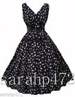 PRASLIN SIMPLY BE VINTAGE STYLE SWALLOW BIRD PRINT 50'S DRESS SIZE 14-26