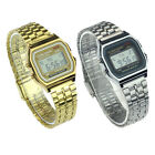 Vintage Womens Men Stainless Steel Digital Alarm Stopwatch Wrist Watch Reliable