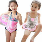 Girls Polka Dot Sailor Stripe Bikini Tankini Kids Swimsuit Swimwear Bathing 2-8Y