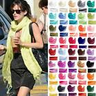 Ladies Shawl Cashmere Pashmina Scarf 40 Colors Plain Vintage Wrap Mens Scarves
