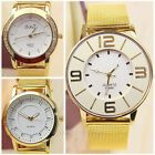 Fashion Ladies Women Golden Bracelet Stainless Steel Analog Quartz Wrist Watch