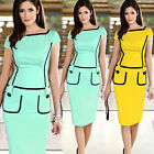 New Celeb Women Ladies Fitted Bodycon Pencil Cocktail Evening Party Dress S-XL