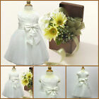 Ivory Infant Baby Communion Wedding Party Flower Girls Dresses AGE 0 to 18Month