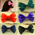 Cute Girls Ribbon Bow Ponytail Hair Alligator Barrettes Crocodile Clip Accessory