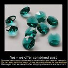 Crystal Octagon A-Grade 14mm 1 Hole TURQUOISE x 10 machine cut for Suncatcher