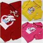 Girls Minnie Mouse Jacket Hoodie Pink Yellow Red Size Age 18M-2y to 5 6 years