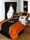 Baltimore Orioles Bed in a Bag Drapes Valance Twin Full Queen King Comforter