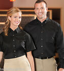 FEATHERLITE LADIES SHORT SLEEVE TAPERED TWILL STAIN RESISTANT SHIRT 5281-NEW!
