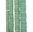 Synthetic Turquoise Gemstone Rondelle Loose Spacer Beads A strand 16'' 4 Sizes