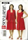 5479 UNCUT Butterick SEWING Pattern Misses Jacket Pullover Dress Casual Career