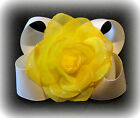 You Pick Color Sparkle Rose Flower & Hair Bow Photo Prop Glitter Big Hairbows