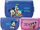 Disney Mickey Minnie Mouse Goofy Donald Blue / Pink Trifold Wallet New Licensed