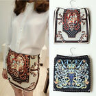 Hot sale Lady Chic Totem Printed High Waist Package Hip Sexy Short Skirt UKEW