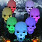 New Halloween 7 Colors Flash LED Skull Pumpkin Night Light Lamp Decoration Gift