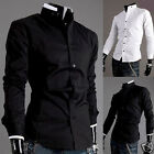 Homme Neuf Chemises décontractées Men's Stand Collar Stitching Dress Shirts Tops