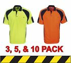 3 for $60 - 5 for $80 - 10 for $130 - Hi Vis Cooldry Side Panel Polo
