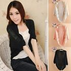 Lady Elegance Crochet Knits Shawl Batwing sleeve Hollow Out Cardigan Top Sweater