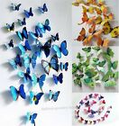 3D Butterfly Sticker Art Design Decal Wall Stickers For Room/ Fridge Decor,12Pcs