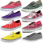 Mens, Womens Vans Authentic Canvas Pumps Plimsolls Classic Low Trainers Shoes Si