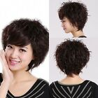 Women Short Fashion Straight Natural Middle Cosplay Party Hair Full Wig +Wig Cap