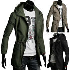 **Fast Delivery**  Military Men's Vintage Hooded Jackets Coats Trench Overcoat