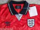 XL or XXL  ENGLAND UMBRO RETRO AWAY 1990 SHIRT Jersey soccer football RED NEW
